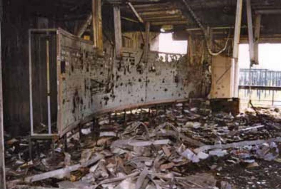 Uništena komandna ploča TS-Ernestinovo